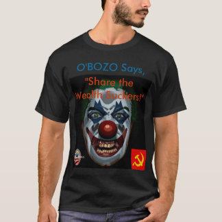 """Camiseta O'Bozo diz a """"parte os otários da riqueza"""" (preto"""