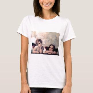 Camiseta Obra-prima italiana doce do renascimento dos anjos