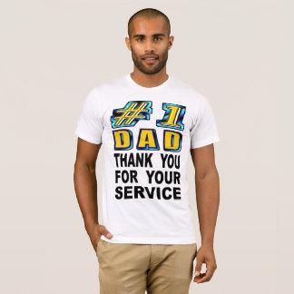 Camiseta Obrigado do pai do número um você para seu serviço