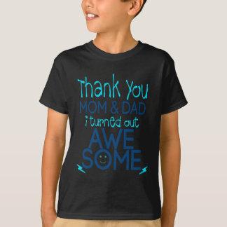 Camiseta obrigado mamã e pai que eu despejei impressionante
