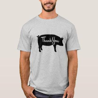 Camiseta Obrigado porco