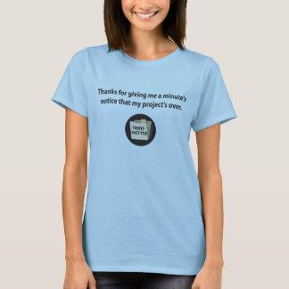 Camiseta Obrigados para dar-me a observação de um minuto…