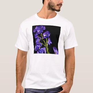 Camiseta Obscurece lilás flor