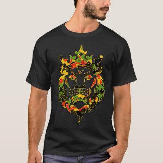 Camiseta Obscuridade do leão de Rasta Camo