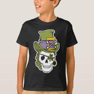 Camiseta Obscuridade do T do crânio do dia de St Patrick
