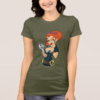 Camiseta Obscuridade do t-shirt da menina do macaco de
