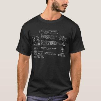 Camiseta OBSCURIDADE do t-shirt das equações de Maxwell
