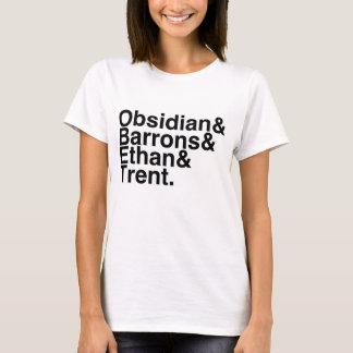 Camiseta Obsidiana do noivo do livro, Barrons, Ethan, Trent