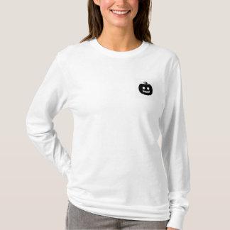 Camiseta Obtenha a luva longa das mulheres Spooked