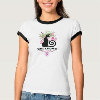 Camiseta OBTENHA AFORTUNADO! T-shirt da especialidade