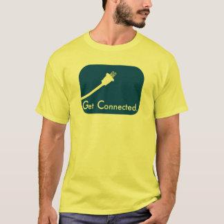 Camiseta Obtenha conectado.  Elétrico