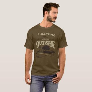 Camiseta Obtenha fora, t-shirt do Brown dos homens