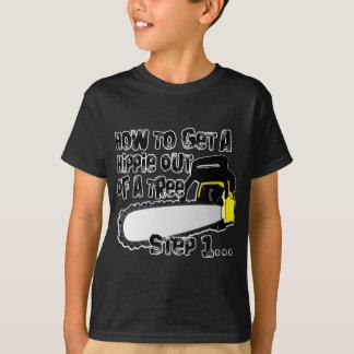 Camiseta Obtenha hippys fora de suas árvores