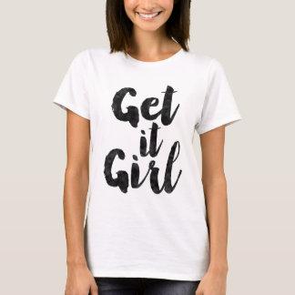 Camiseta Obtenha-lhe a menina