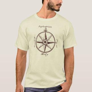 Camiseta Obtenha o compasso antigo orientado do mapa do