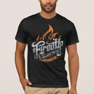 Camiseta Obtenha o Tshirt do preto da edição de FiredUp