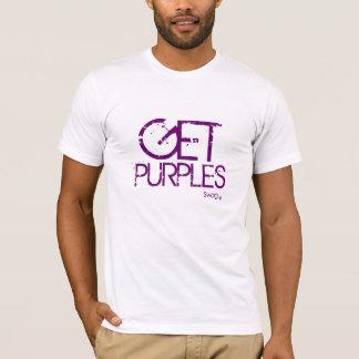 Camiseta Obtenha roxos