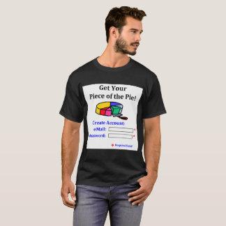 Camiseta Obtenha sua parte da senha do email da torta