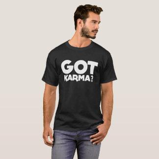 """Camiseta """"Obteve karmas"""", texto, palavras, karmas,"""