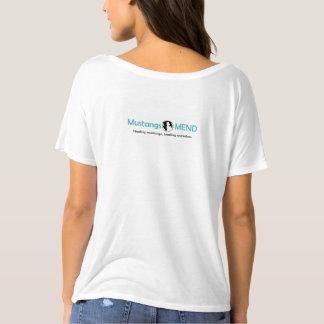 Camiseta Obtido picou o T do Slouch das mulheres
