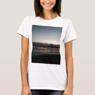 Camiseta oceano Califórnia do nighttime do cais de San