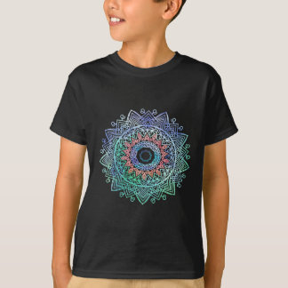 Camiseta Oceano-madala. rosa azul do aqua