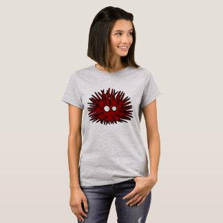 Camiseta Oceano vermelho uni espinhoso do ouriço do