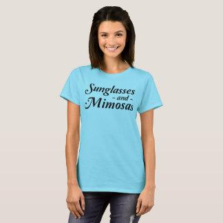 Camiseta Óculos de sol e Mimosas