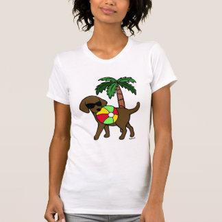 Camiseta Óculos de sol legal de Labrador do chocolate