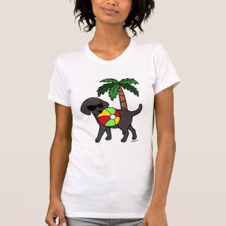 Camiseta Óculos de sol pretos legal de Labrador