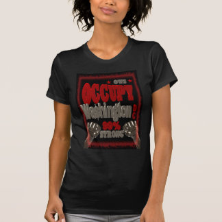 Camiseta Ocupe o protesto do Washington DC OWS 99 por cento