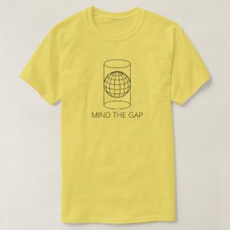 Camiseta Ocupe-se de Gap (projeção cilíndrica - a luz)