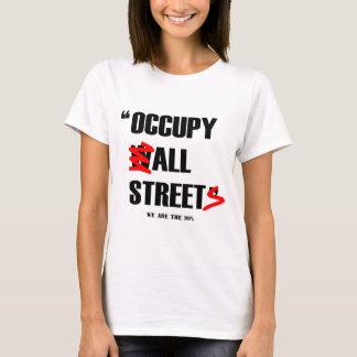 Camiseta Ocupe Wall Street todas as ruas que nós somos os