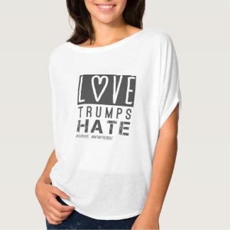 Camiseta Ódio dos trunfos do amor, não meu presidente