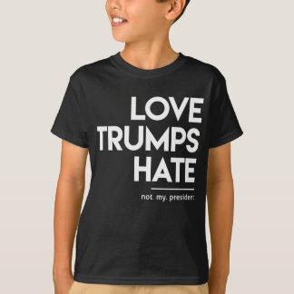 Camiseta Ódio dos trunfos do amor (não meu presidente)