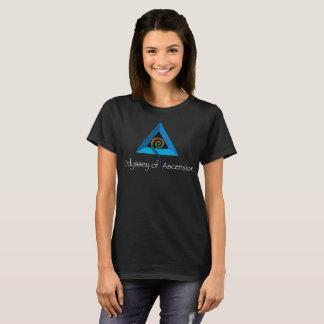 Camiseta Odisseia da ascensão - o T das mulheres - preto