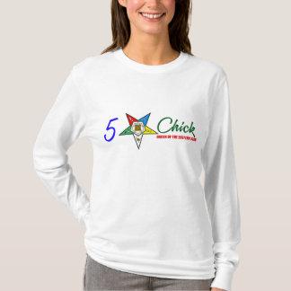 Camiseta OES: pintinho de cinco estrelas (branco do LS)