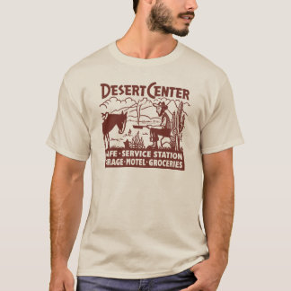 Camiseta Oeste velho Center do deserto da rota 66 do