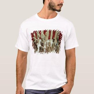 Camiseta Oferecimento de dezesseis figuras masculinas, do
