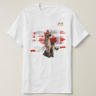 Camiseta Oh Canadá, bandeira canadense com german shepherd