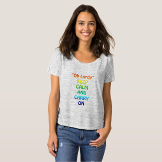 Camiseta Oh Lordy Bella+T-shirt Slouchy do namorado das