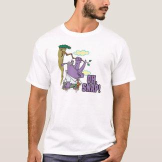 Camiseta oh rinoceronte instantâneo em desenhos animados de