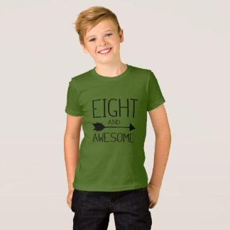 Camiseta Oito e 8o t-shirt impressionante do presente de