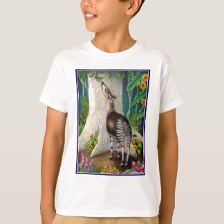 Camiseta Okapi na floresta húmida