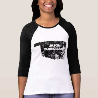 Camiseta Oklahoma desvanecido 3/4 de banda dos jovens de