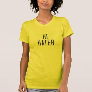 Camiseta olá! aborrecedor do adeus do aborrecedor frente e