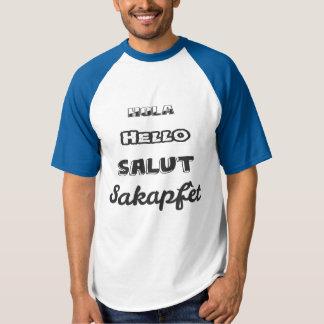 Camiseta Olá! em quatro línguas