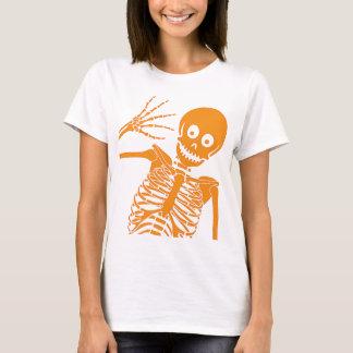 Camiseta Olá! esqueleto! Boneca