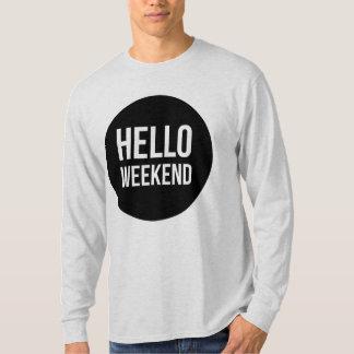 Camiseta Olá! ligação em ponte da camisola dos homens do