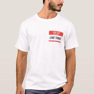 Camiseta Olá! meu nome é